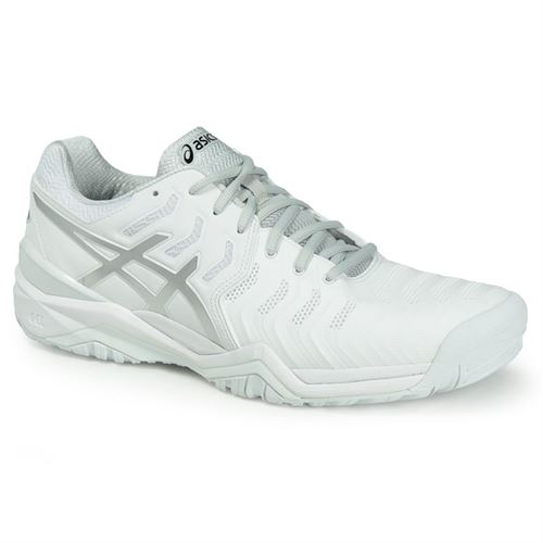 Asics Gel Resolution 7 Mens Tennis Shoe - White/Silver