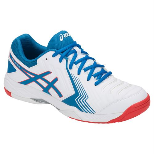 Asics Gel Game 6 Mens Tennis Shoe - White/Race Blue