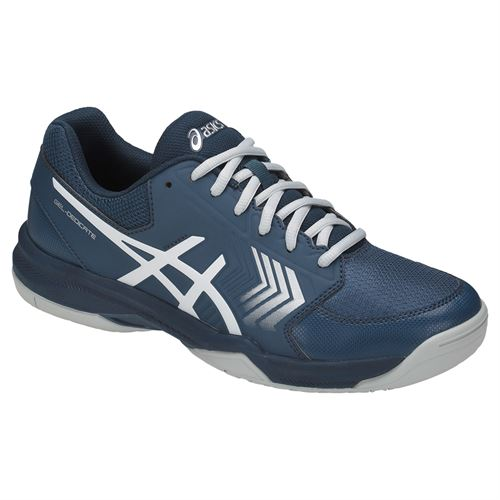 Asics Gel Dedicate 5 Mens Tennis Shoe - Dark Blue/Silver/White