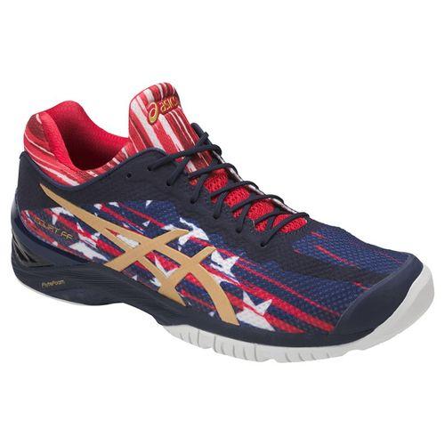 Asics Court FF LE NYC Mens Tennis Shoe - Indigo Blue/Gold/Red
