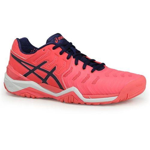 Asics Gel Resolution 7 Womens Tennis Shoe - Diva Pink/Indigo Blue/White