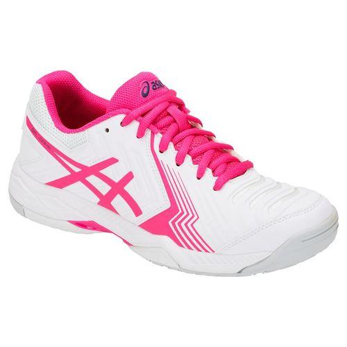 Asics Gel Game 6 Womens Tennis Shoe - White/Pink Glo