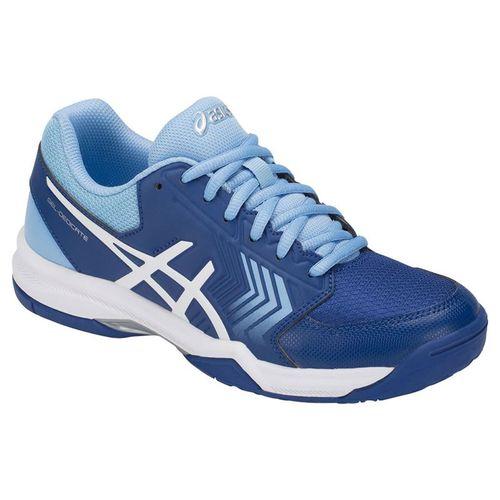 Asics Gel Dedicate 5 Womens Tennis Shoe - Monaco Blue/White