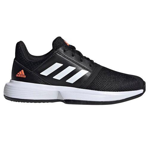adidas Court Jam XJ Junior Tennis Shoe - Black/White
