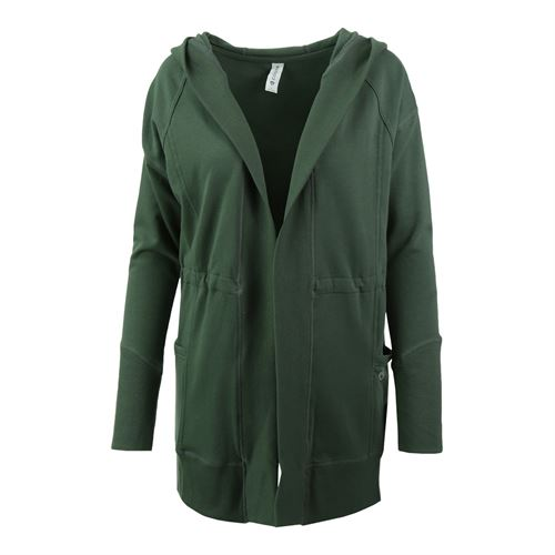 Colosseum One Way Hooded Cardigan - Dusty Olive