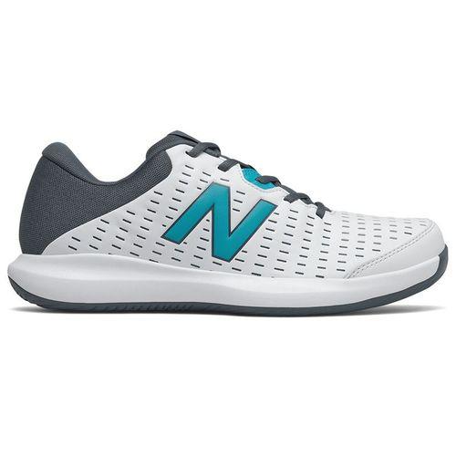 New Balance 696v4 (2E) Mens Tennis Shoe - White/Navy