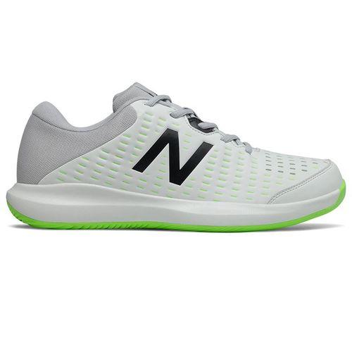 New Balance 696v4 (2E) Mens Tennis Shoe - White/Grey/Lime
