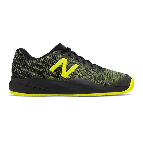 New Balance MC 996 (D) Mens Tennis Shoe - Black/Sulphur Yellow