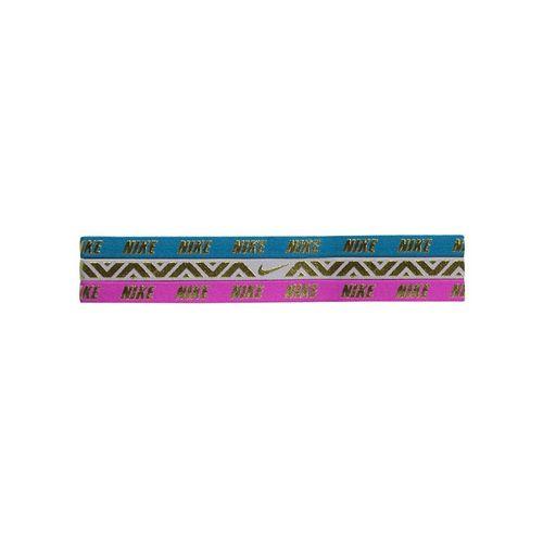 63c22385c15ec Nike Metallic Hairband 3 Pack - Aqua Rose Magenta
