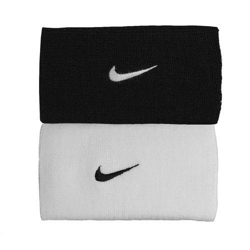 timeless design 39520 9b86e Nike Dri-FIT Home and Away Doublewide Wristbands - Black Base Grey   Nike  Tennis