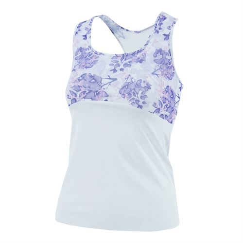 Denise Cronwall Serenity Racerback Top - Print/White