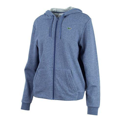 Lacoste Hooded Full Zip Fleece Sweatshirt - Marino/Navy Blue