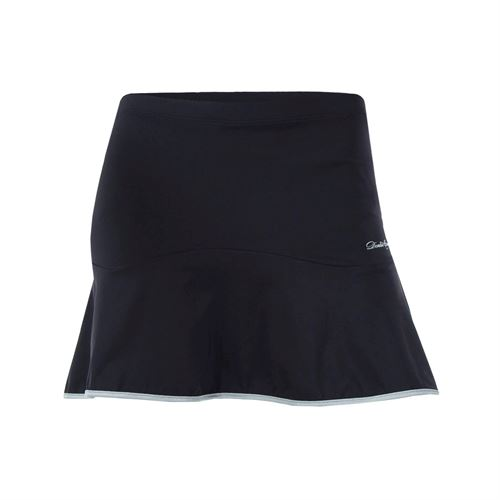 Denise Cronwall Vivid Dark Solid Skirt - Black