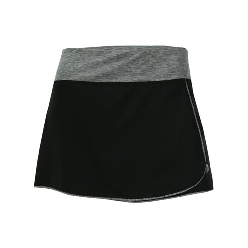 Prince Stretch Woven Skirt - Black/Grey Heather
