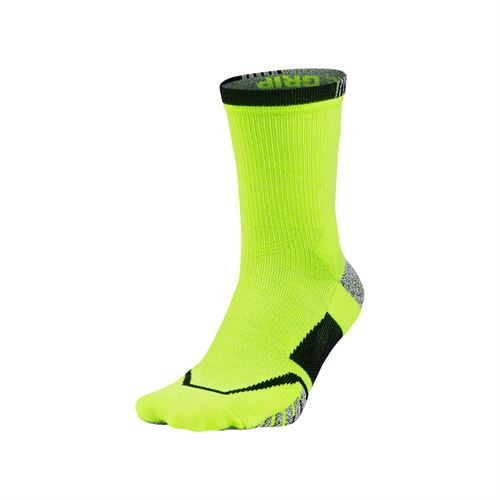 Nike Grip Elite Crew Tennis Sock - Volt