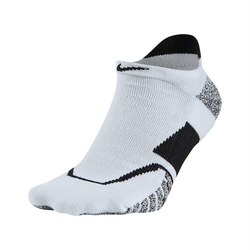 Nike Grip Elite No Show Tennis Sock - White/Black