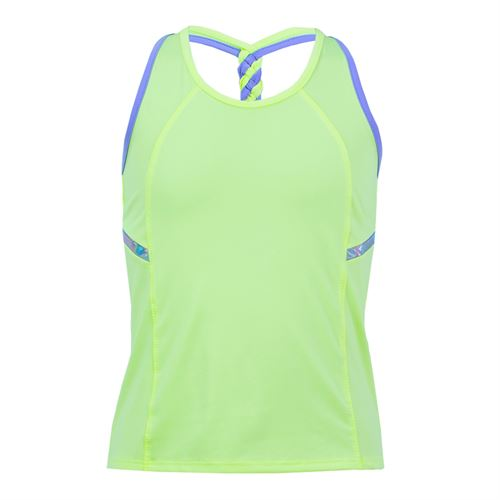 Lucky in Love Star Gazer Breezy Back Braid Tank - Lime Frost
