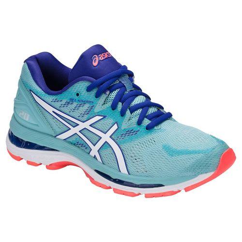7551ecb0a281 Asics Gel Nimbus 20 Womens Running Shoe - Porcelain Blue White Asics Blue