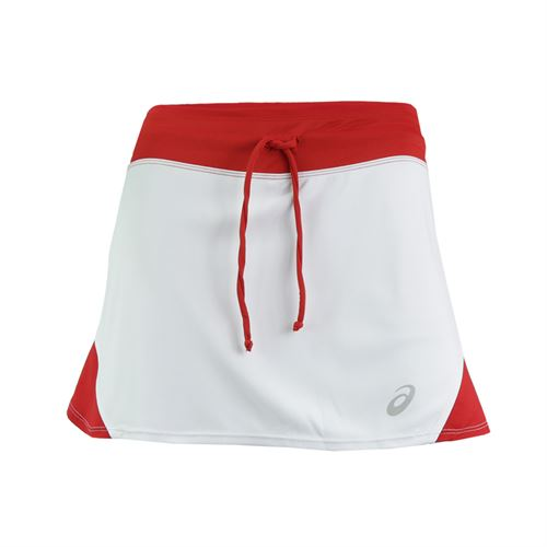 Asics Spin Slice Skirt - White/Red