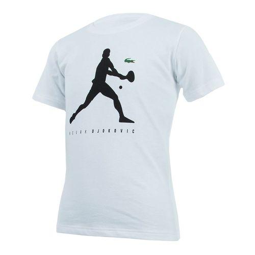 Lacoste Boys Djokovic Tech Tee - White/Black