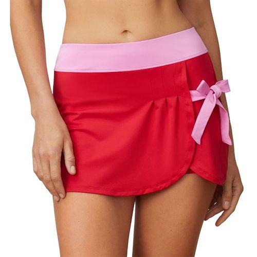 Fila 30 Love Side Tie Skirt Womens Crimson/Cyclamen TW015472 640