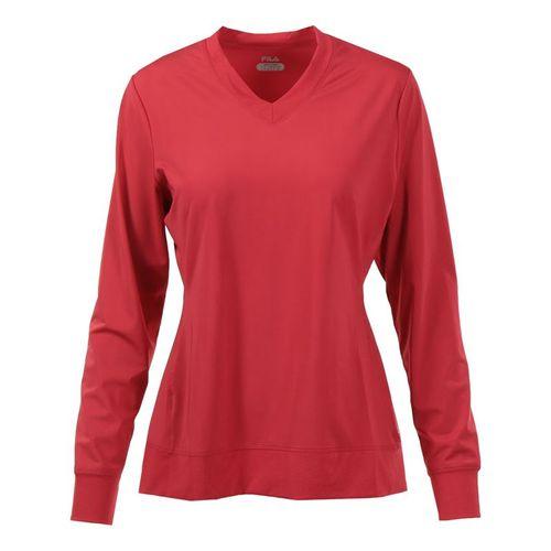Fila Core Long Sleeve Top - Poppy Red