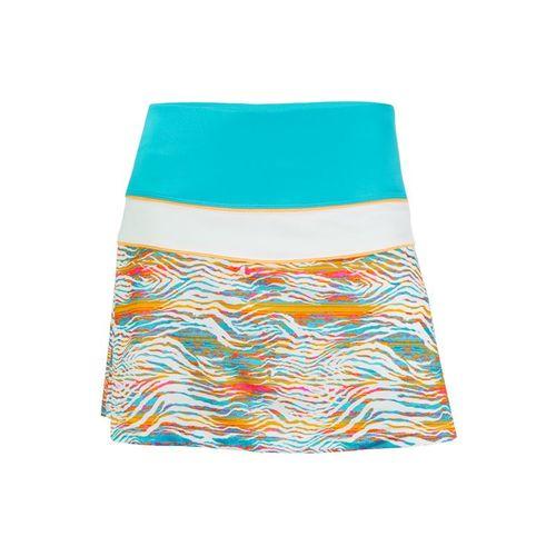 Fila Tropical Slice Pleated Back Skirt - Tropical Print/Blue Bird