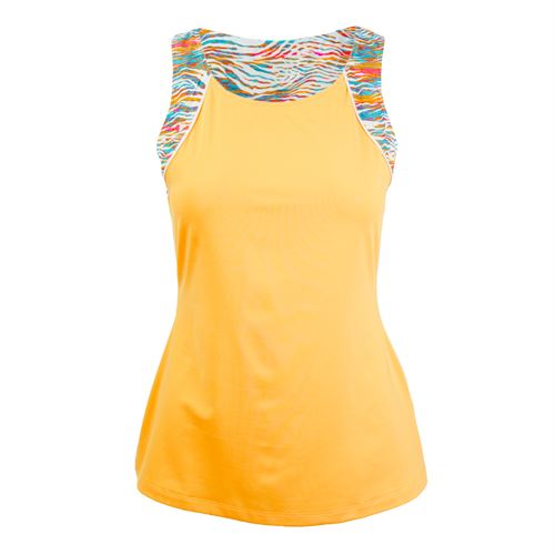 Fila Tropical Slice Full Coverage Tank - Orange Pop/Tropical Print/White