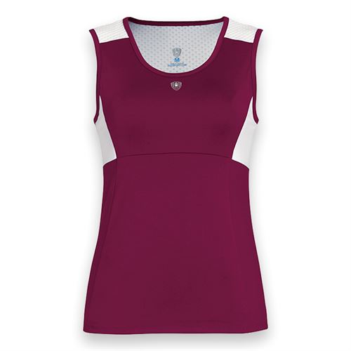 DUC Look Out Keyhole Tank - Maroon/White