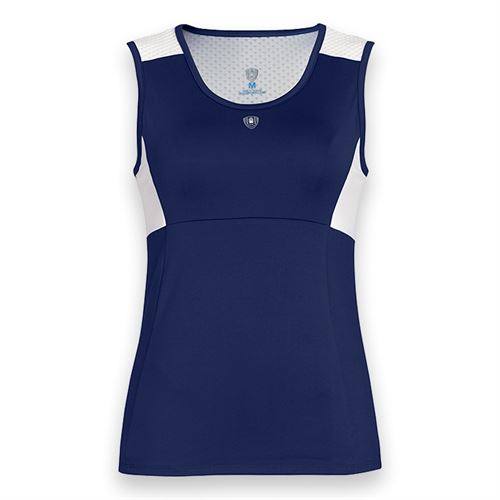 DUC Look Out Keyhole Tank - Navy/White