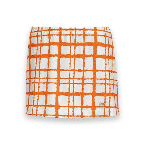 DUC Chaos Printed Tennis Skirt - White/Orange