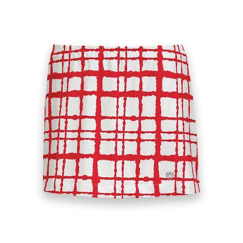 DUC Chaos Printed Tennis Skirt - White/Red