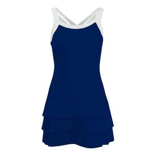 DUC Grace Fashion Strappy Dress - Navy/White
