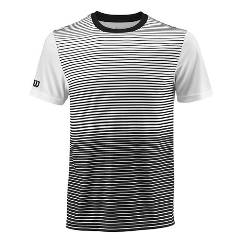 Wilson Team Striped Crew - Black/White
