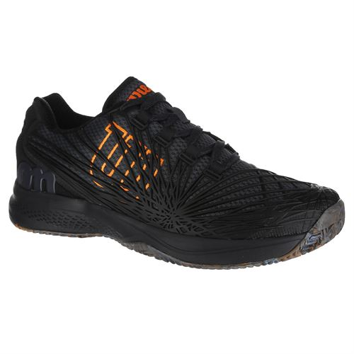 Wilson Kaos 2.0 Mens Tennis Shoe - Ebony/Black/Orange