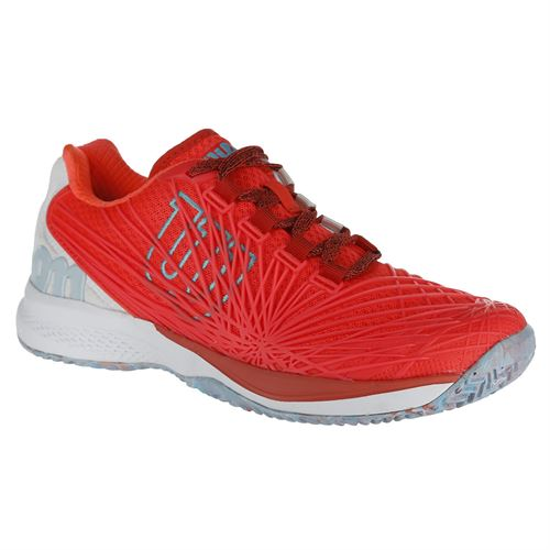 Wilson Kaos 2.0 Womens Tennis Shoe - Coral/White/Blue