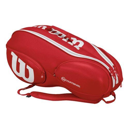 Wilson Pro Staff 9 Pack Tennis Bag - Red/White