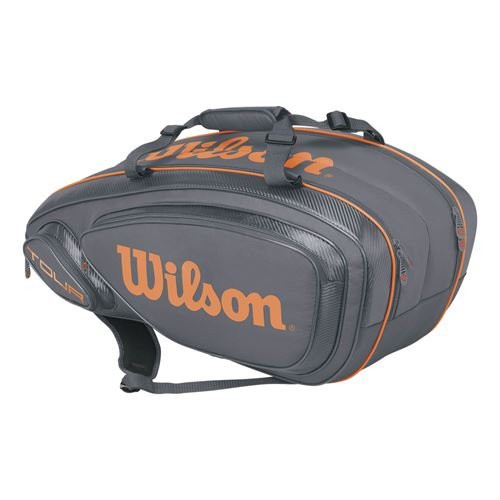 Wilson Tour V 9 Pack Tennis Bag - Grey/Orange