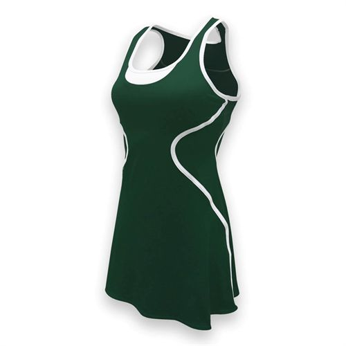 SSI Sophia Tennis Dress - Pine/White
