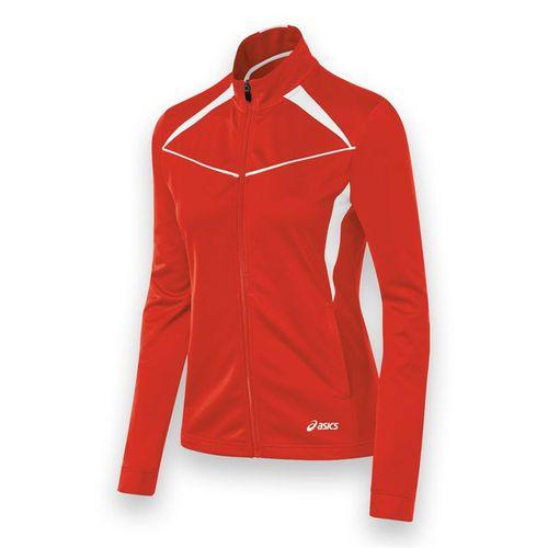Asics Cali Jacket - Red/White