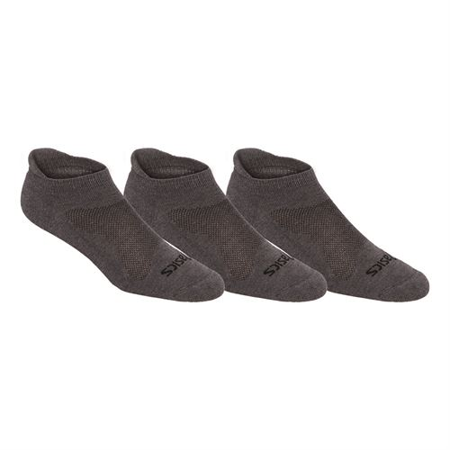 Asics Cushion Low Cut Socks (3 Pack) - Grey Heather