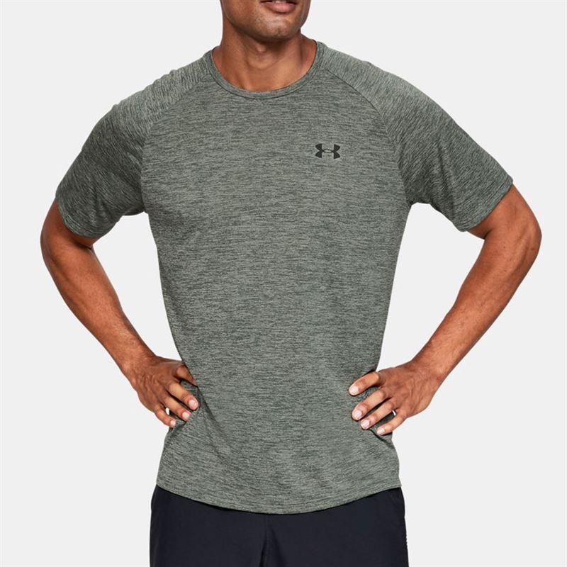 Cristo entrar novedad  Under Armour Tech 2.0 Crew - Gravity Green/Black | Midwest Sports