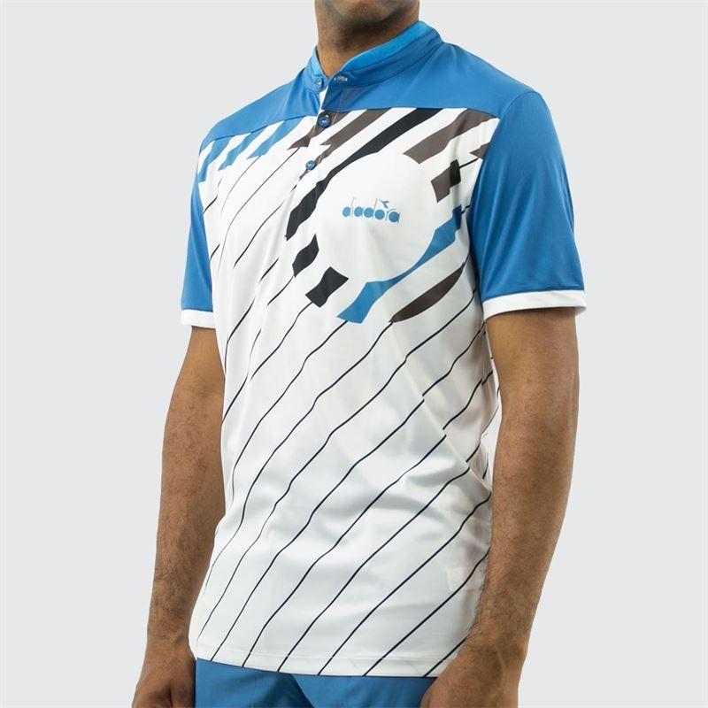 c80ddfe3 Diadora Match Polo, Blue, 174131 60080 | Midwest Sports
