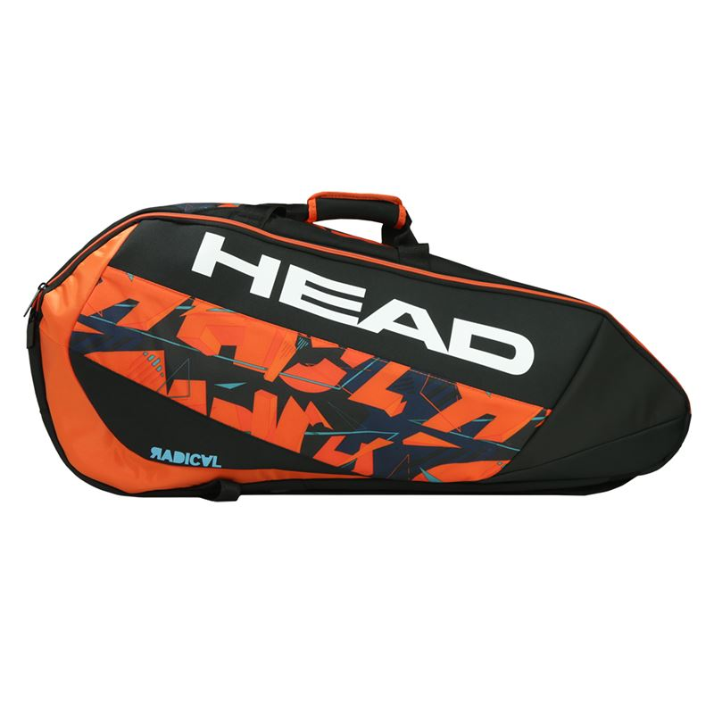 Head Radical Supercombi 9 Pack Tennis Bag Black Orange