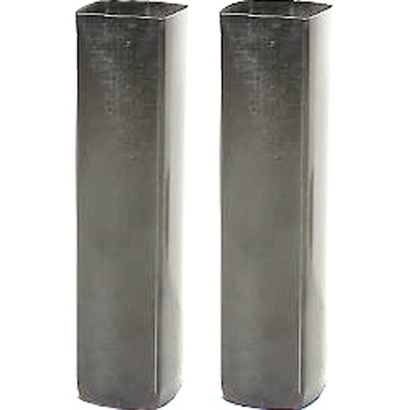 Galvanized Steel Net Post Ground Sleeves, 3in Square Net