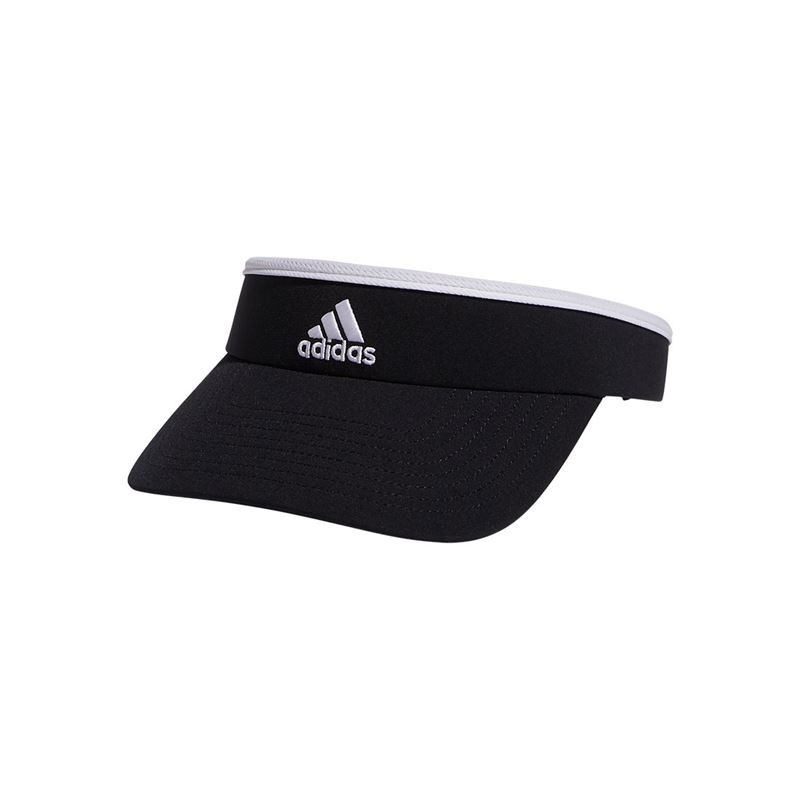 One Size adidas Womens Match Clamp Visor Black//White