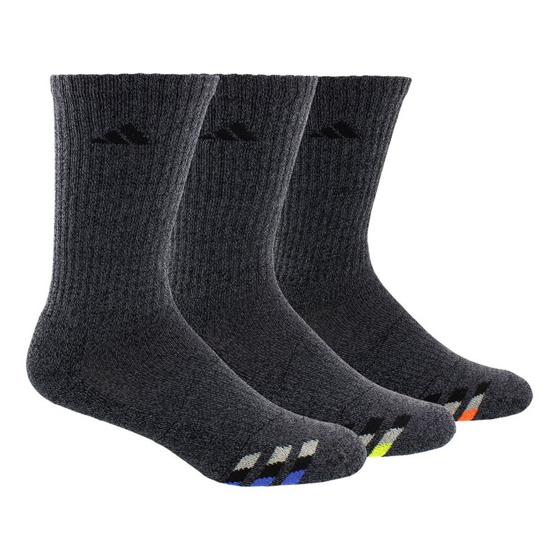4f26ad16196bf adidas Cushioned Color Crew Sock ( 3 Pack) - Black/Blue/Yellow/. Zoom