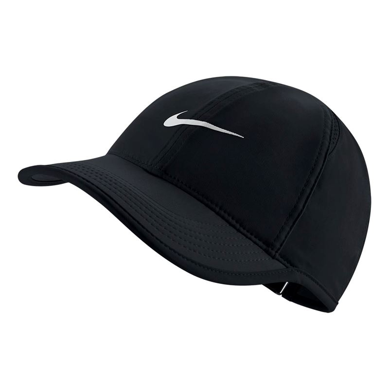 nike womens feather light hat black