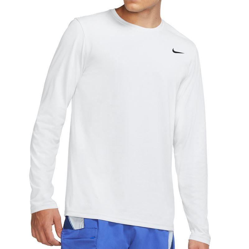 2f5cd1cb698f63 Nike Legend 2.0 Long Sleeve Crew, White, 718837 100