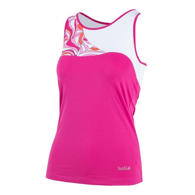 Bolle Womens Color Burst Printed Tennis Tank